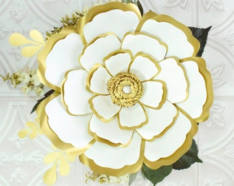 Large paper flowers etsy large paper flowers giant paper flower patterns tutorials diy flower templates printable mightylinksfo Images