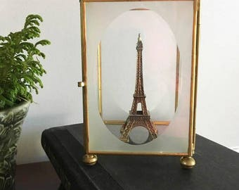 Small Glass Display Box / Oval Viewing Box /  Glass and Brass Case / Glass Box / Display Case / Treasure Showcase / Tabletop Display / Curio