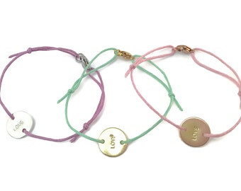 Glass of luck bracelet Rosé gold with carabiner