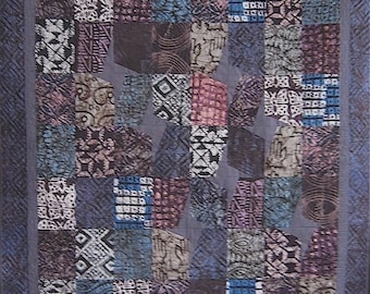 Patchwork Quilt - purple Tanzanian Starry Nights