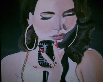 Lana del Rey painting