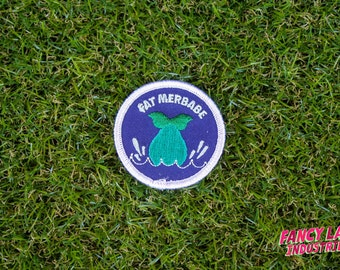 Fat Merbabe - Girth Guides patch for fat activists, Mermaid Patch, Fat Activism, Fat Acceptance, Fat Liberation, Body Positive