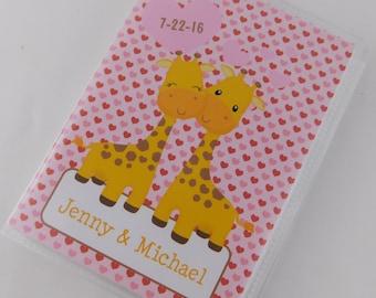 Valentine's Day Gift Photo Album Giraffe Love Heart Engagement Anniversary Photo Album Honeymoon Wedding Bridal Shower Gift 4x6 or 5x7 296