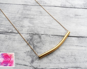 Long Layering necklace, minimalist necklace, tube necklace, dainty gold necklace, layered jewelry set, minimal layering necklace, simple