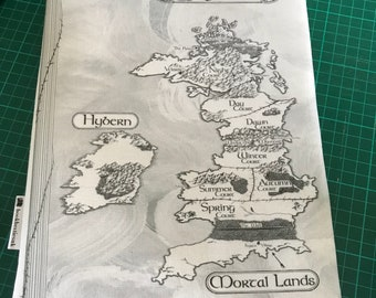 ACOTAR map  bookbestie book sleeve padded and lined PAPERBACK size