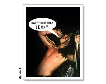 CHRIS CORNELL Soundgarden Happy Birthday SEXY Grunge Card - Seattle. Super Awesome Hilarious Funny Card. 1990s Nostalgia. Personalized Bday