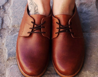 CUSTOM Classic Oxfords~Leather Oxfords~Brogues~Wing Tips~Leather Shoes~Hipster Shoes~Preppy~Leather Lace-ups~Handmade Shoes~Custom