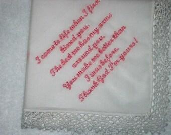 Bräutigam, Braut, Hochzeit Taschentuch aus der Bräutigam der Braut oder die Braut, Bräutigam 213S