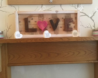 "Reclaimed Wooden ""love"" Sign"