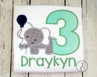 Boys Birthday Shirt - Elephant Birthday, 1st Birthday, Jungle Birthday, Jungle Birthday, Twin Birthday, Boy Birthday Outfit, Zoo Party