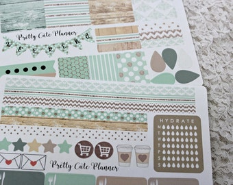 Planner Stickers -Weekly Planner Sticker Set -Erin Condren Life Planner -Happy Planner -Day Designer-Functional stickers-Minted Wood