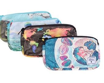 Esteem Tyvek Zipper Bag, Zipper Pouch, Travel Pouch, Cosmetic Bag, Small Bag, Makeup Bag, Waterproof, Donation to animal rescue