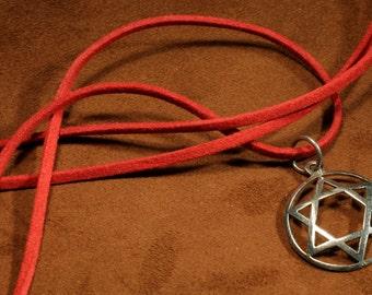 Magen David pendant, Star of David pendant, metal pendant, handmade metal jewelry