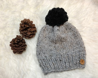 The Willow Hat   Knit Hat   Pom Pom Hat   Ready to Ship   Gifts for Her   Chunky Knit Hat   Wool Hat   Winter Hat   Hand Knitted Hat