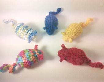 Crochet Mouse cat toy
