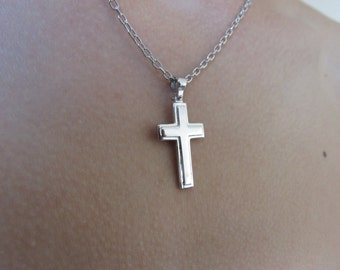 Cross Pendant, Cross  Necklace, Silver cross necklace, mens cross necklace,  womens cross necklace, christian necklace, cross pendant