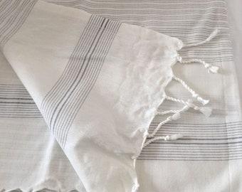 Turkish towel, Peshtemal, Beach towel, Bath towel, yoga& pool towel, Fouta, Pareo, Wedding Gift ,Bridesmaid gift, travel towel