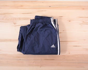 Adidas insulated nylon pants men's large