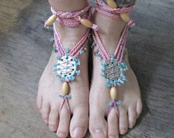 Boho Wedding Barefoot Sandals, Boho Wedding Shoes, Bohemian Barefoot Sandals, Hippie Footless Sandals, Beach Wedding Barefoot Sandals