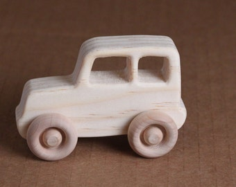 Handcrafted Mini wooden SUV 204