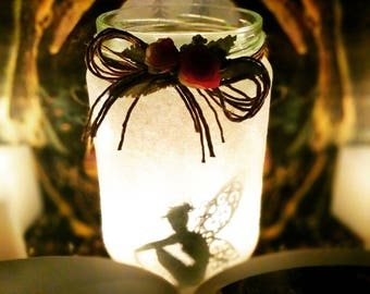 Fairy Jar, glitter, candle jar, mason jar, home decoration, night light candles