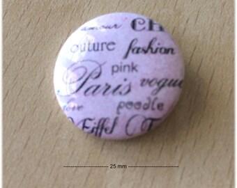"""badge 25 mm """"Paris 01"""""""