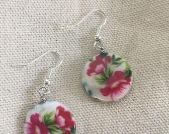 Floral Print Earrings #2