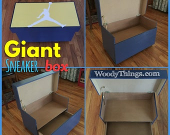 Good Giant Sneaker Box, ANY Color, Holds 4 6 Shoes/Sneakers.