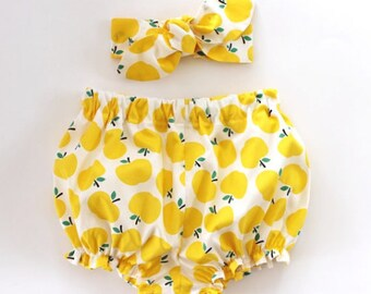 Baby Girl Outfit, Baby Girl Clothes, Set, Baby Bloomers Set, Baby Headband, Baby Girl Headband, Baby Bloomers, Baby Clothing