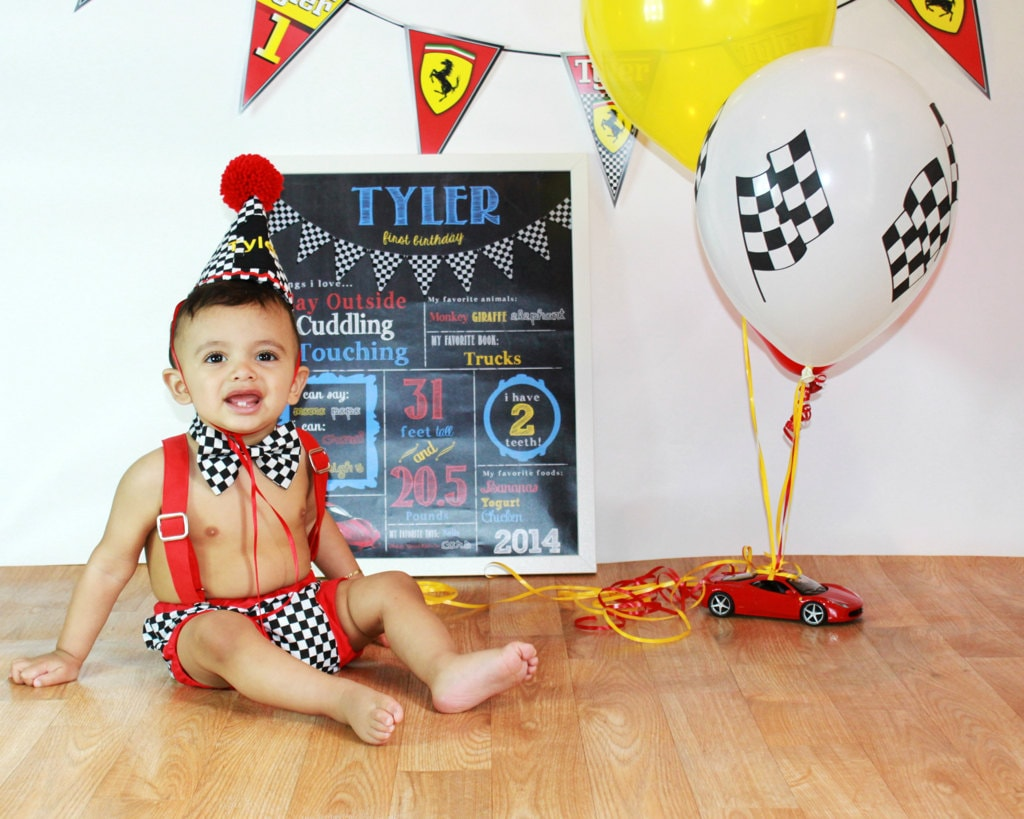 Race Car Cake Smash Outfit Boy First Birthday Outfit Cars