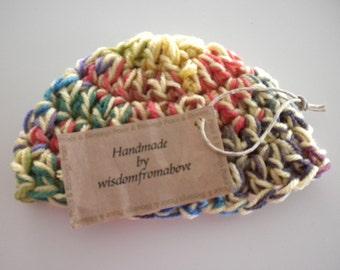 Crochet Baby Hat Soft Newborn Photography Prop Multi Color Crayola