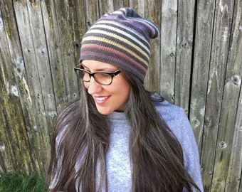 Crochet Pattern-- Very Versatile Striped Beanie --Crochet Pattern
