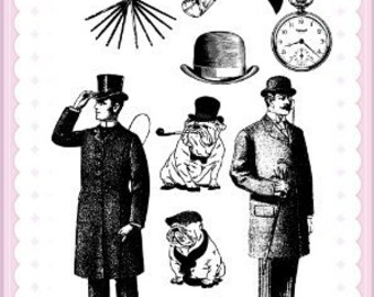 "True Gentleman // Clear stamps pack (4""x7"") FLONZ"