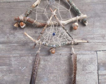 """Dreamcatcher """"Roots"""" with Lapis Lazuli • Atrapasueños """"Raíces"""" con Lapis Lazuli • Pagan,Witch,Magic,Spell,Wicca"""