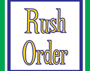 Rush Order Add On - Designs by Daffy Upgrade Purchase Completion Time