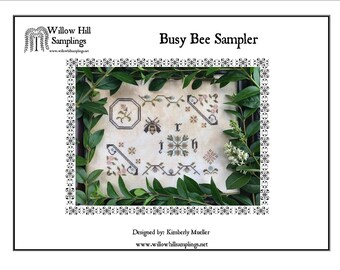 Busy Bee Sampler counted cross stitch pattern