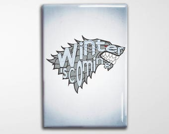 "Game of Thrones Magnet - GoT Stark Typography 2x3"" Magnet"