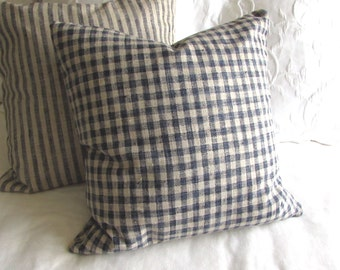 Very French Lakeland Check pillow cover  20x20