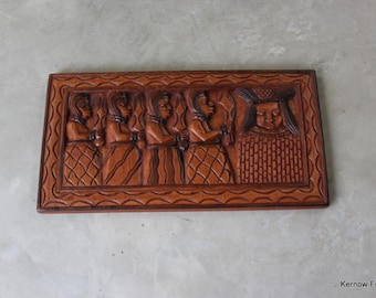 Carved African Wall Panel