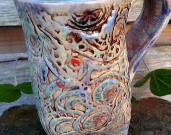 Decorative SeaGreen Mug