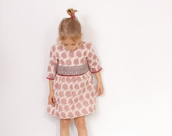 Victoria girls DRESS pattern pdf - easy children sewing patterns - from 2 to 7 years