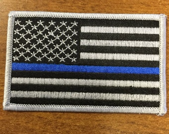 Tactical Police law enforcement Thin Blue Line United States Flag Patch