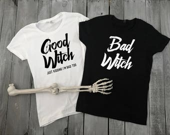 Duo Halloween Shirt, Good Witch Bad Witch Shirts, Halloween Shirt, Best Friend Halloween Shirts, Halloween Party Shirt - Funny Halloween