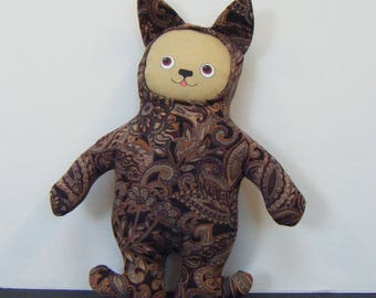 Paisley Brown Stuffie Dog Doll