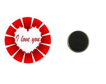 Magnet I love You - 25 mm Magnet