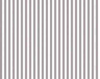 Riley Blake Designs, 1/4 Inch Stripe in GRAY (C555)