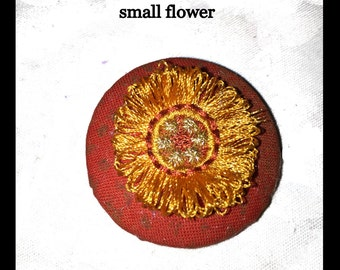 Fringed Gum Blossoms and Button Çovers  Machine Embroidery Designs 4x4 hoop (100x100mm)