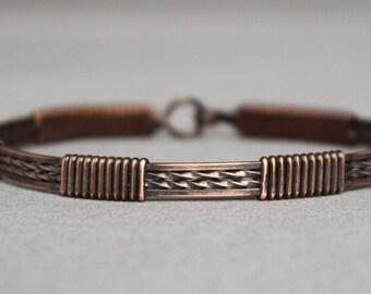 Antiqued Copper Bracelet (4-wire)