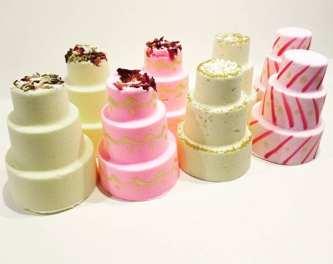 6 Wedding Cake Bath Bombs