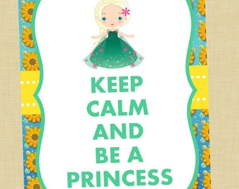 Elsa Keep Calm Art